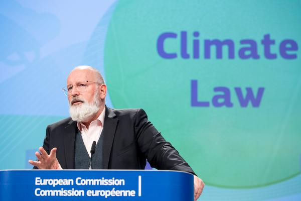 Frans Timmermans, Executive Vice-President of the European Commission, sets out the Climate Law proposal at a press conference, Brussels. March 2020. Photo: EC - Audiovisual Service