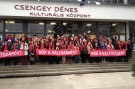PES Women street action in Hungary today